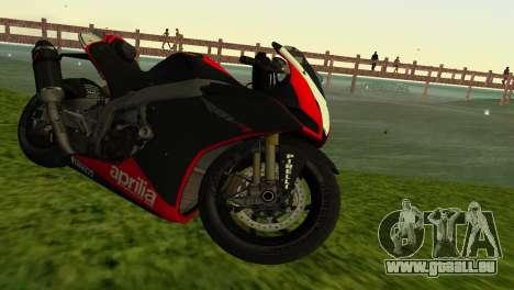 Aprilia RSV4 2009 Edition I pour GTA Vice City vue arrière