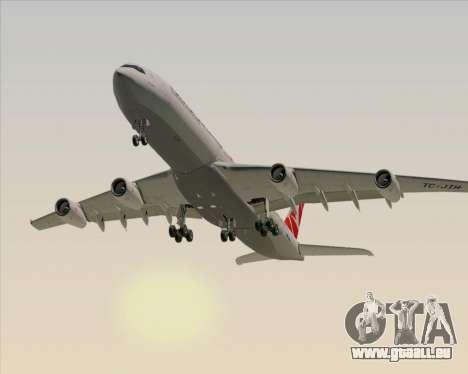 Airbus A340-313 Turkish Airlines für GTA San Andreas Seitenansicht