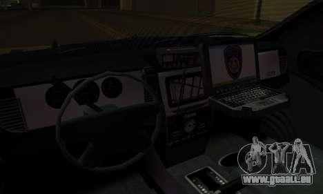 Vapid Police Interceptor from GTA V pour GTA San Andreas vue de dessous