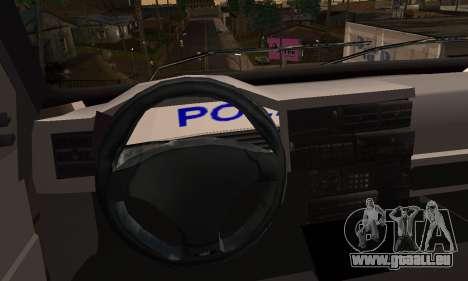 Volkswagen Caravelle Politia für GTA San Andreas zurück linke Ansicht