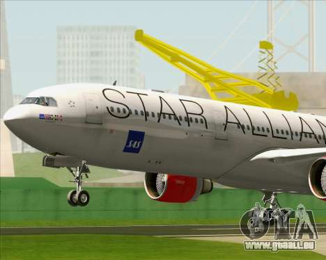 Airbus A330-300 SAS (Star Alliance Livery) für GTA San Andreas Innenansicht
