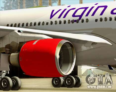 Airbus A330-300 Virgin Atlantic Airways für GTA San Andreas Räder