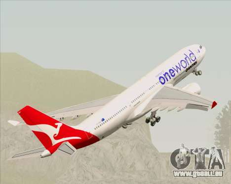 Airbus A330-200 Qantas Oneworld Livery pour GTA San Andreas roue