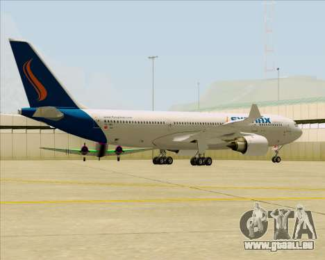 Airbus A330-200 Syphax Airlines pour GTA San Andreas vue arrière