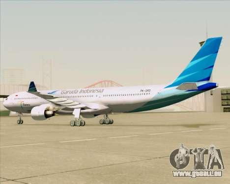 Airbus A330-300 Garuda Indonesia für GTA San Andreas Rückansicht
