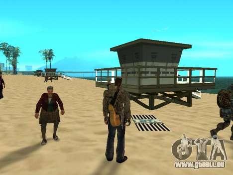 Nouveau tapis sur la plage pour GTA San Andreas troisième écran