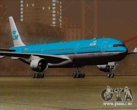 Airbus A330-300 KLM Royal Dutch Airlines für GTA San Andreas zurück linke Ansicht