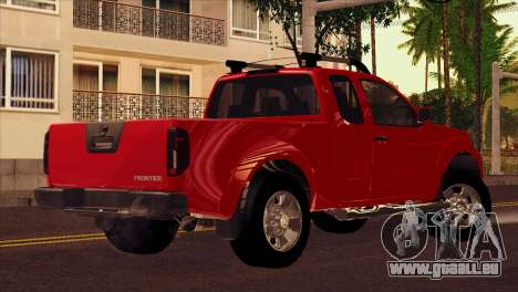 Nissan Frontier 2013 pour GTA San Andreas laissé vue