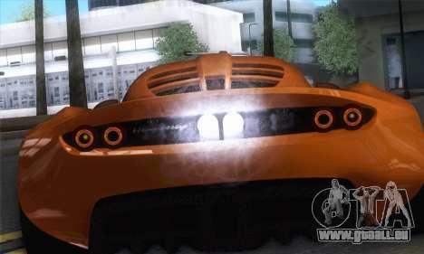 Hennessey Venom GT pour GTA San Andreas vue de droite
