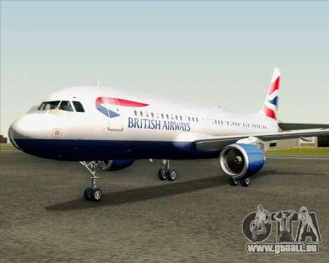 Airbus A320-232 British Airways für GTA San Andreas obere Ansicht