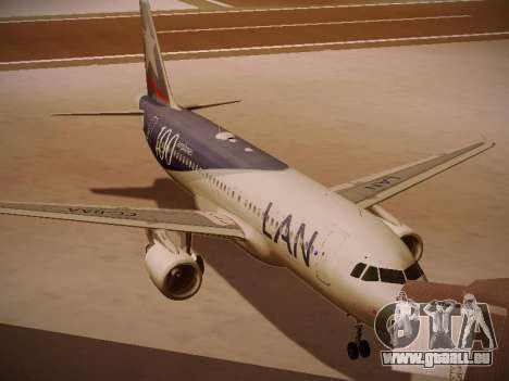 Airbus A320-214 LAN Airlines 100th Plane für GTA San Andreas linke Ansicht