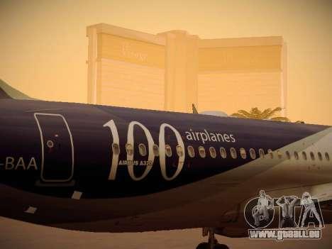 Airbus A320-214 LAN Airlines 100th Plane pour GTA San Andreas vue de dessus