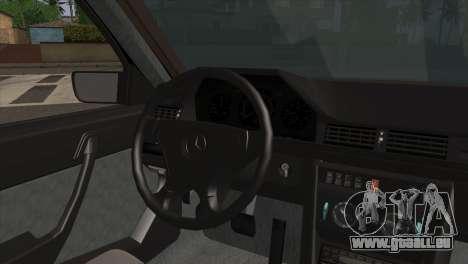 Mercedes-Benz E-Class W124 AMG pour GTA San Andreas sur la vue arrière gauche