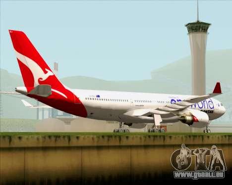 Airbus A330-200 Qantas Oneworld Livery pour GTA San Andreas vue de dessus