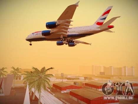 Airbus A380-800 British Airways pour GTA San Andreas moteur