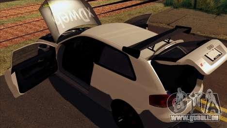 Audi S3 Tuned 2007 pour GTA San Andreas vue arrière