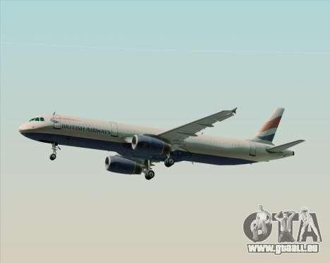 Airbus A321-200 British Airways pour GTA San Andreas moteur