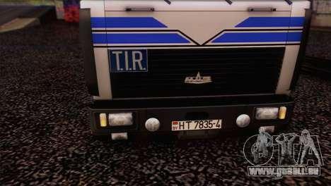 MAZ 642208 pour GTA San Andreas sur la vue arrière gauche