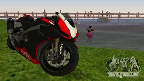 Aprilia RSV4 2009 Edition I pour GTA Vice City sur la vue arrière gauche