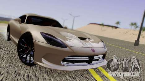 Dodge Viper SRT GTS 2013 Road version pour GTA San Andreas