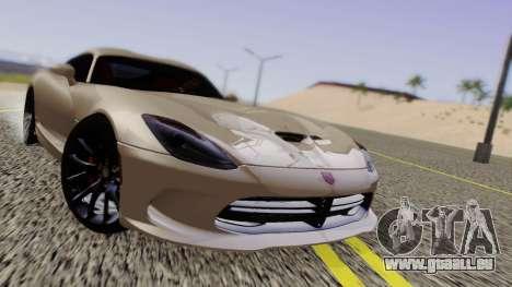 Dodge Viper SRT GTS 2013 Road version pour GTA San Andreas