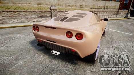 Lotus Exige pour GTA 4 Vue arrière de la gauche