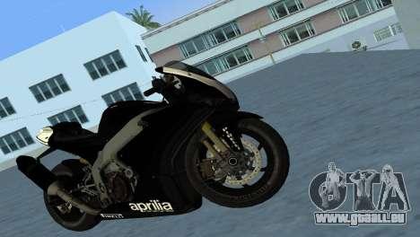Aprilia RSV4 2009 Black Edition pour GTA Vice City