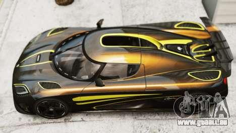 Koenigsegg Agera R 2013 PJ2 für GTA 4 hinten links Ansicht