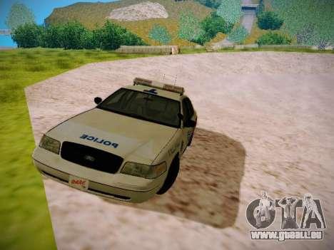 Ford Crown Victoria Toronto Police Service für GTA San Andreas linke Ansicht