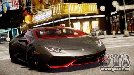 Lamborghini Huracan LP610-4 SuperTrofeo pour GTA 4 est une vue de l'intérieur