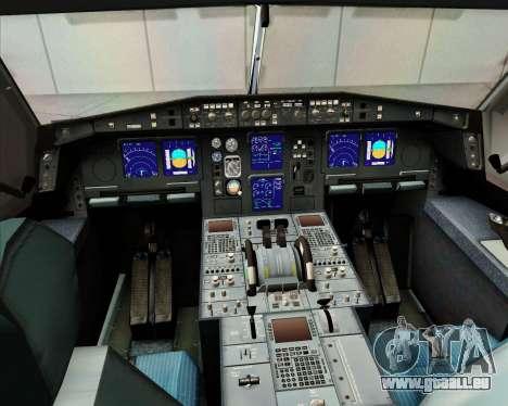Airbus A340-313 Etihad Airways für GTA San Andreas Unteransicht