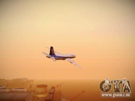 Airbus A320-211 All Nippon Airways pour GTA San Andreas vue intérieure