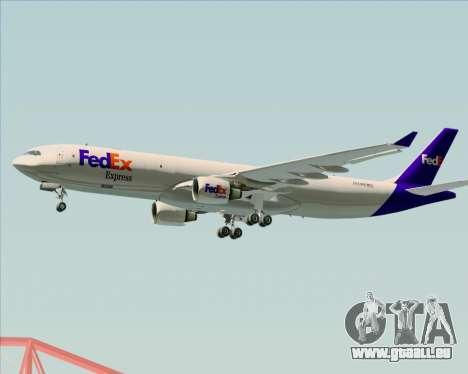 Airbus A330-300P2F Federal Express pour GTA San Andreas sur la vue arrière gauche