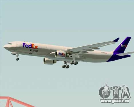 Airbus A330-300P2F Federal Express für GTA San Andreas zurück linke Ansicht