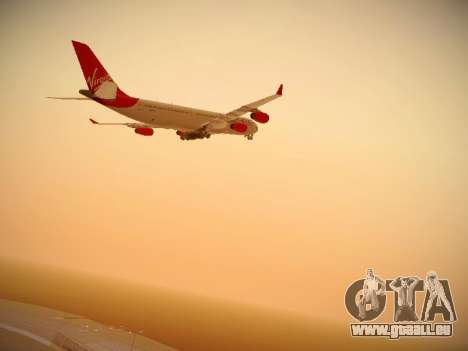 Airbus A340-300 Virgin Atlantic pour GTA San Andreas vue intérieure