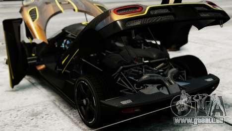 Koenigsegg Agera R 2013 PJ2 pour GTA 4 Vue arrière