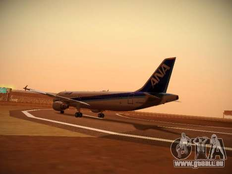 Airbus A320-211 All Nippon Airways für GTA San Andreas rechten Ansicht