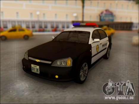 Chevrolet Evanda Police pour GTA San Andreas
