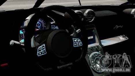 Koenigsegg Agera R 2013 PJ2 für GTA 4 Innenansicht