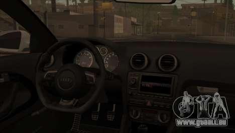 Audi S3 Tuned 2007 pour GTA San Andreas sur la vue arrière gauche