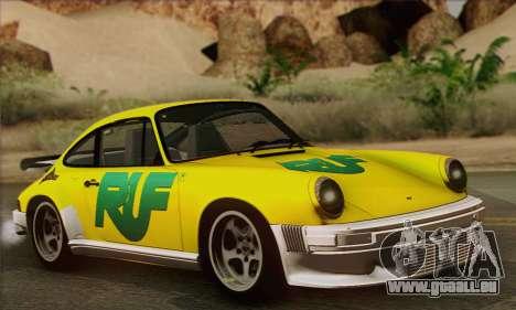 RUF CTR Yellowbird 1987 pour GTA San Andreas salon
