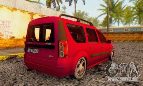 Dacia Logan MCV pour GTA San Andreas vue arrière