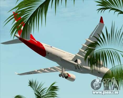 Airbus A330-200 Qantas für GTA San Andreas Unteransicht