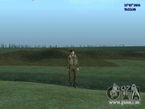 L'Officier De L'Infanterie De Marine pour GTA San Andreas troisième écran