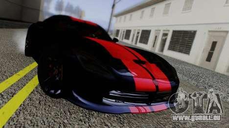 Dodge Viper SRT GTS 2013 Road version pour GTA San Andreas vue intérieure