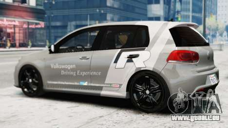 Volkswagen Golf R 2010 Driving Experience pour GTA 4 est une gauche