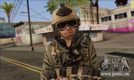 Task Force 141 (CoD: MW 2) Skin 17 für GTA San Andreas dritten Screenshot