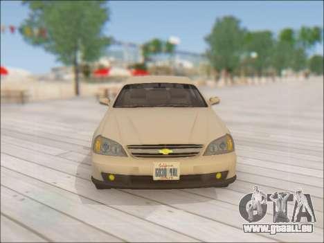 Chevrolet Evanda pour GTA San Andreas vue de dessus