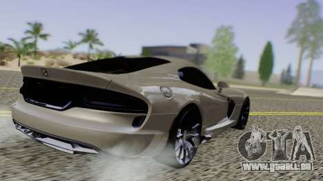 Dodge Viper SRT GTS 2013 Road version pour GTA San Andreas sur la vue arrière gauche