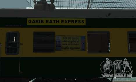 Garib Rath Express pour GTA San Andreas vue de droite